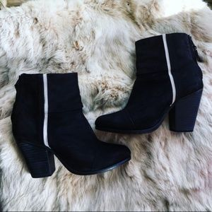 Rag & Bone Black Suede Newbury Boots